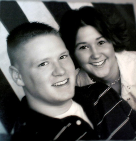 Tyler Ziegel with his then fiancee, Renee.