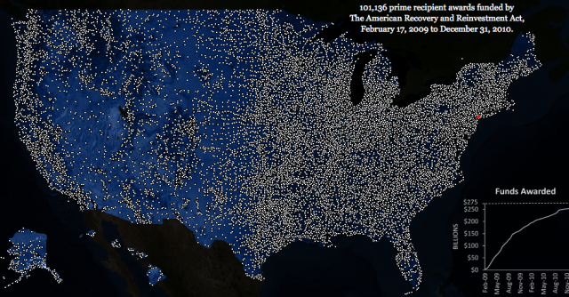 Tufte&#039;s &quot;Lights-On&quot; Map of the U.S. Stimulus Program