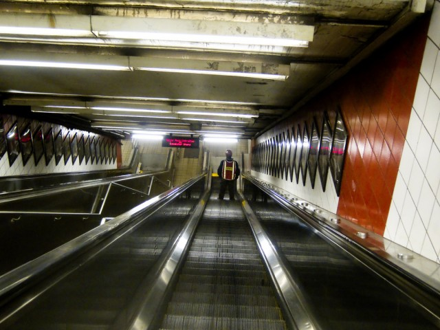 Descending down a Manhattan Subway