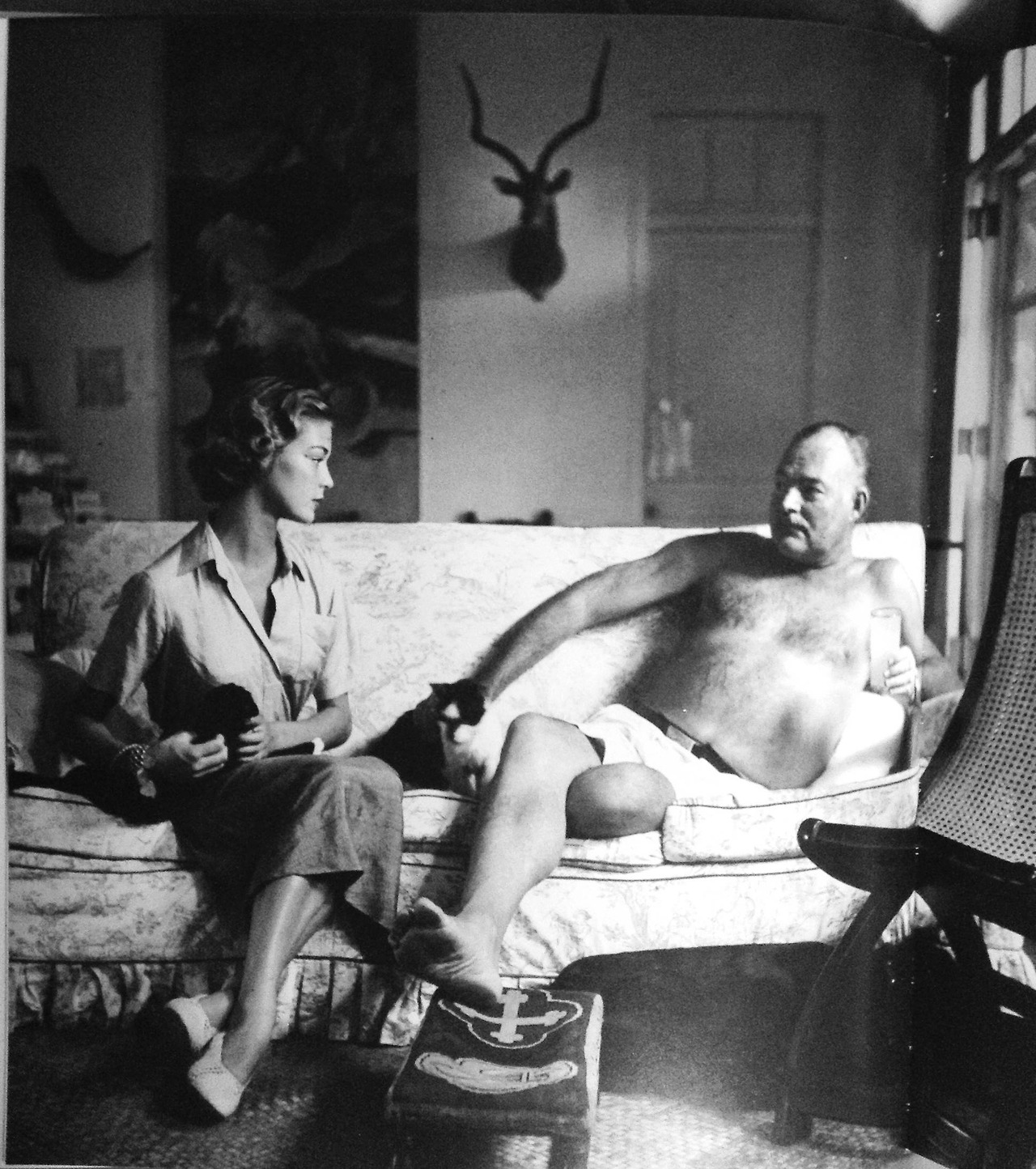 Vogue photographer Cliff Coffin: Ernest Hemingway and Jean Patchett