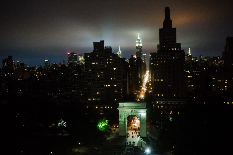 NYC's Washington Square Park, Fifth Avenue, and Empire State Building from NYU's Kimmel Center